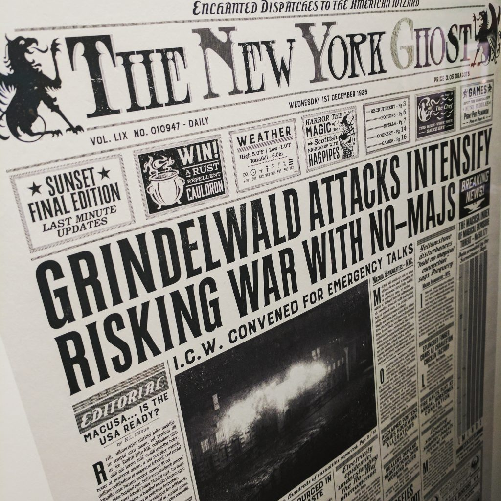 Grindelwald Harry Potter Newspaper