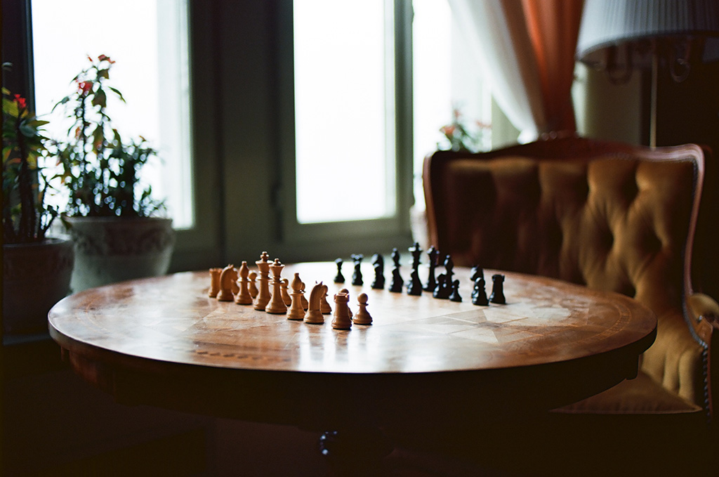 Chess Board Grand-Hotel Giessbach Geoffrey Schild Photography