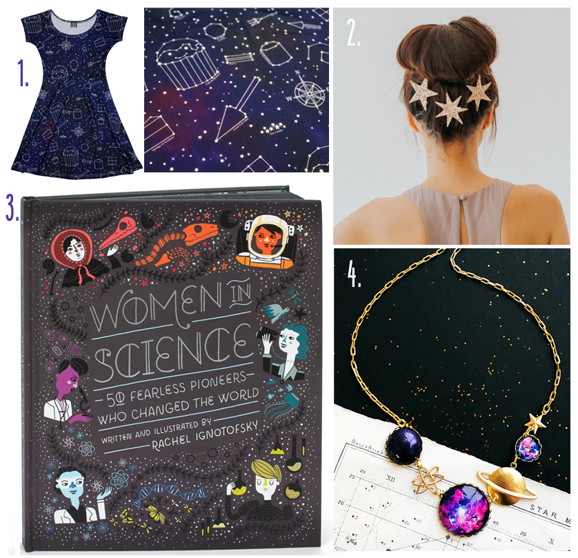 Space Themed Gift Guide MoodBoard Galaxy Constellations Astronomy