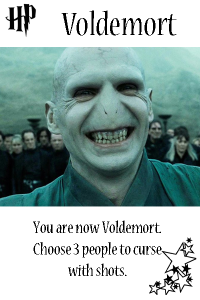 Harry Potter Drinking Game Voldemort