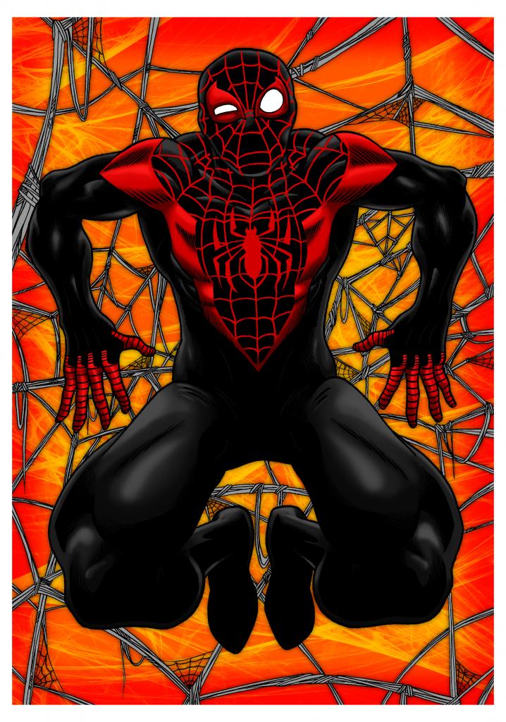 Angus Medford Art - Spiderman Miles Morales - Feb 2017