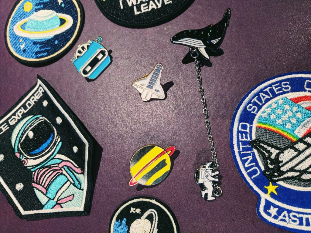 Ultraviolet Space Patches Space Enamel Pins