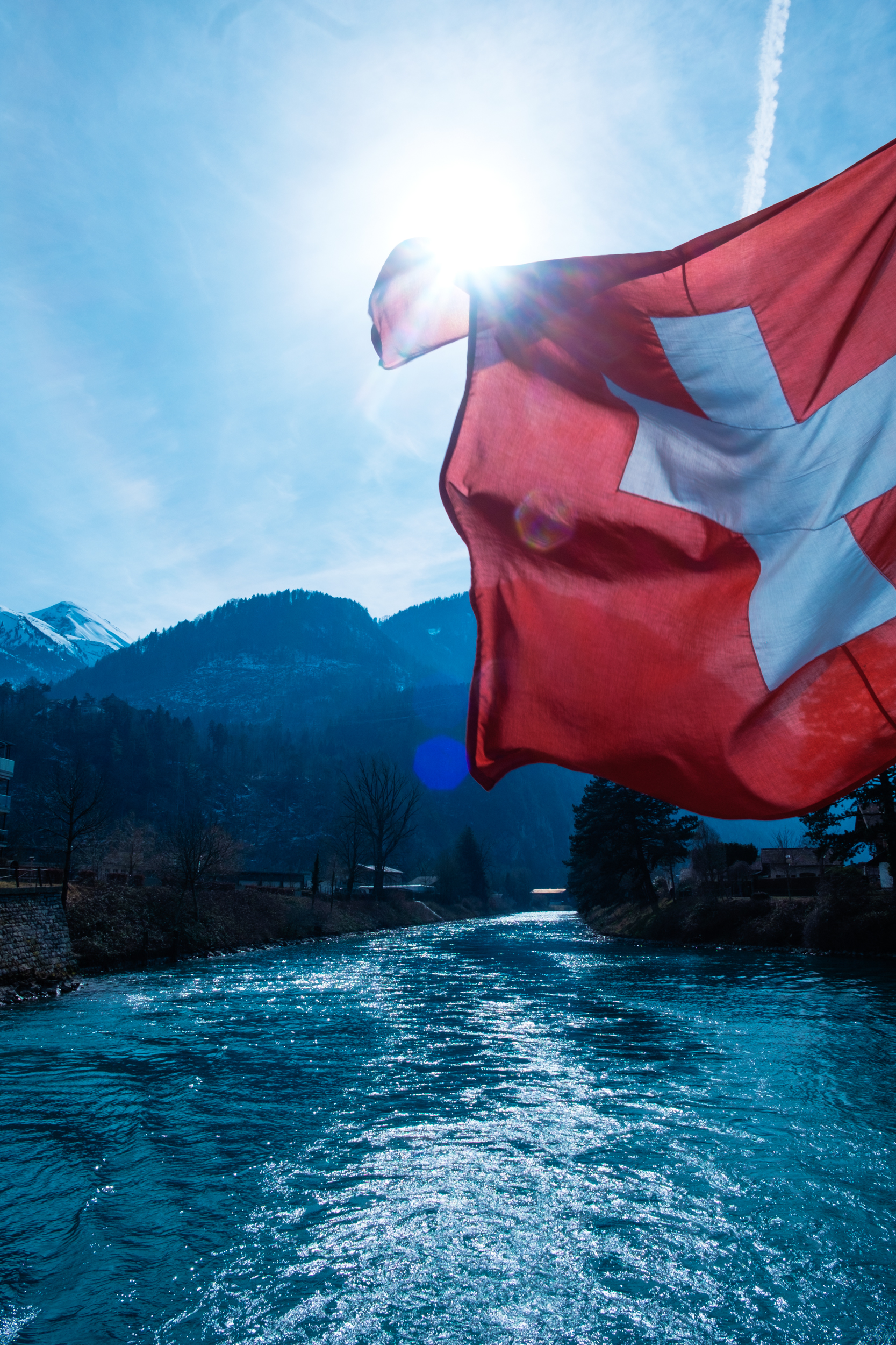 Interlaken Swiss Flag