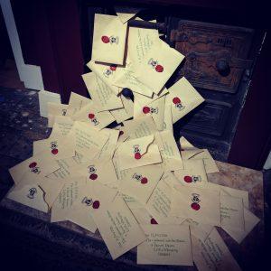 Harry Potter Acceptance Letters Fireplace
