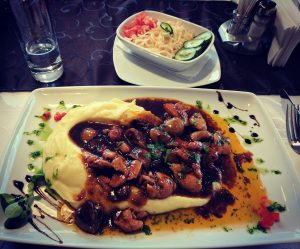 Visiting Romania Worcestershire Sauce Chicken and Puree Potatoes