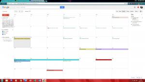Google Calendar Schedule - New Tech vs Old Spec