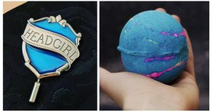 Ravenclaw Badge and Space Themed Intergalactic Bath Bomb