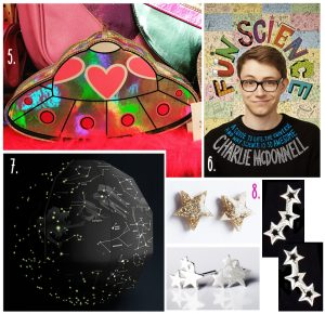 Space Themed Bag Constellation Earrings Fun Science