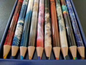 Space themed pencils Swirl duo colour pencils NASA photos