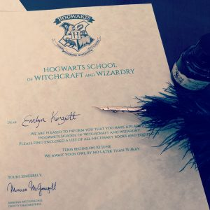 Homemade Hogwarts Letters Harry Potter Party Invites