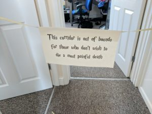 Harry Potter Party Decorations Corridor Sign