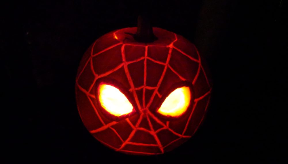 Spiderman Pumpkin Carving Spiderman Jack-O-Lantern