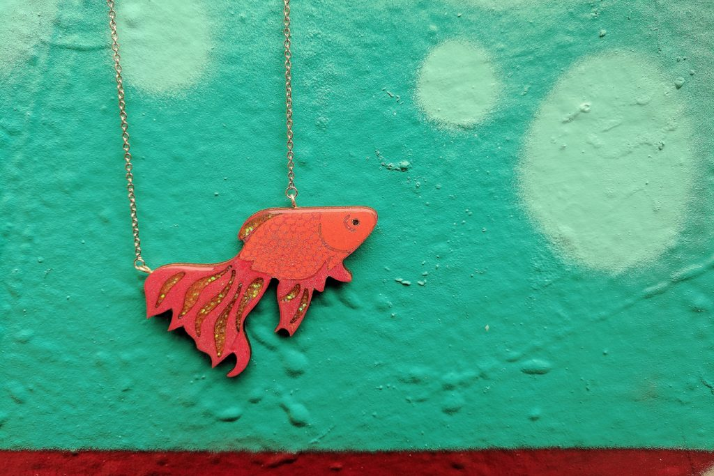 Glitter Fish Necklace BekBek Makes