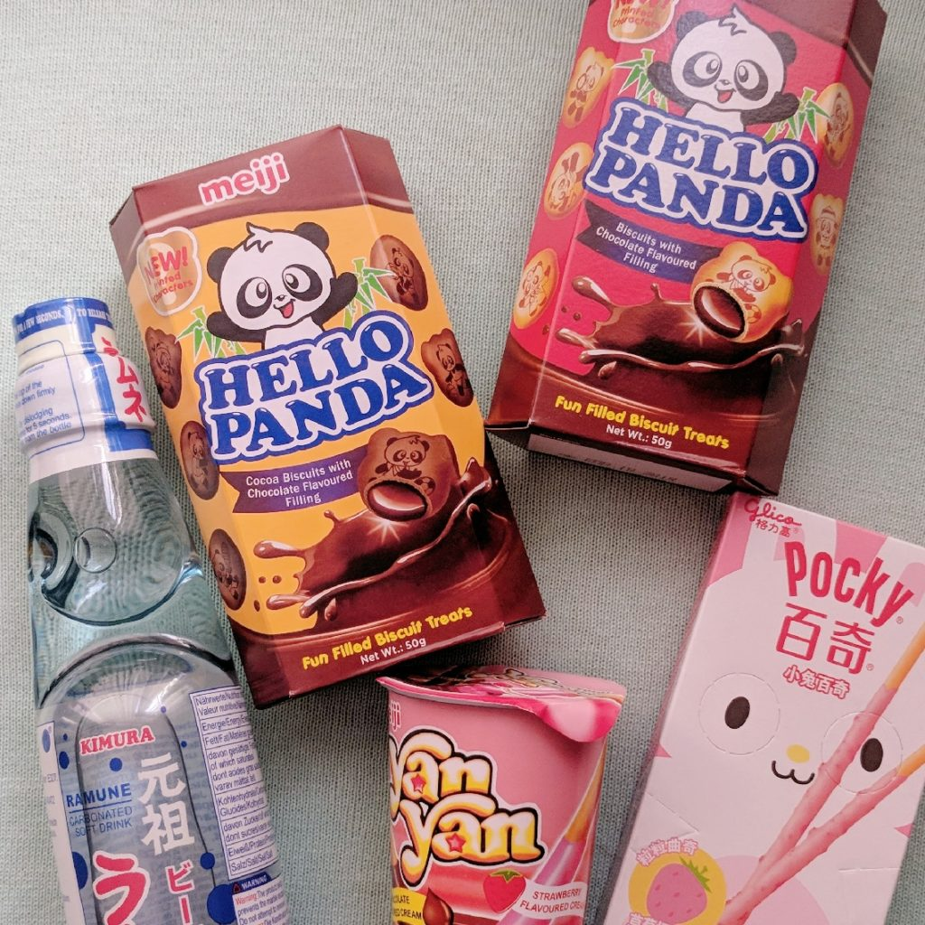 Tofu Cute Review Japanese Snacks Hello Panda Ramune Pocky