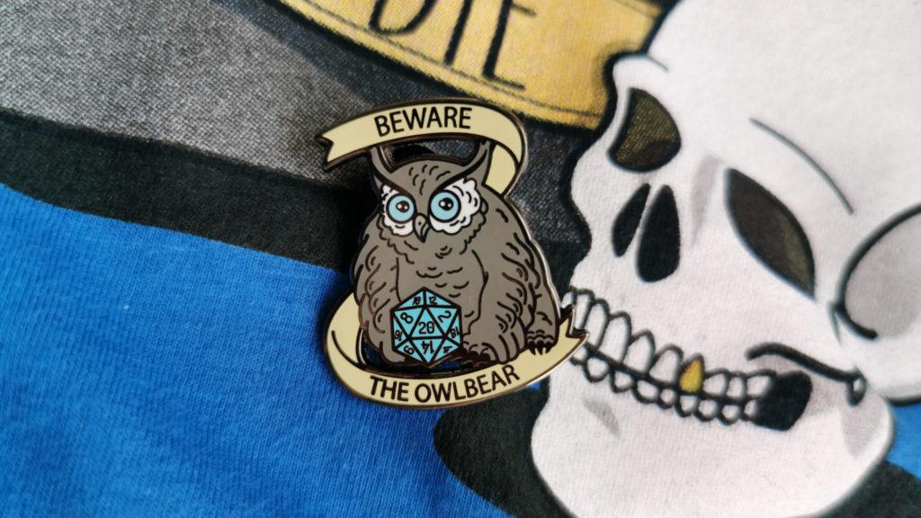 D&D OwlBear enamel pin Dungeons and Dragons blog post