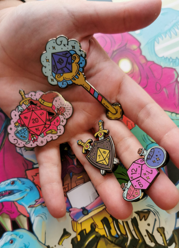 D&D enamel pins Dungeons and Dragons blog post
