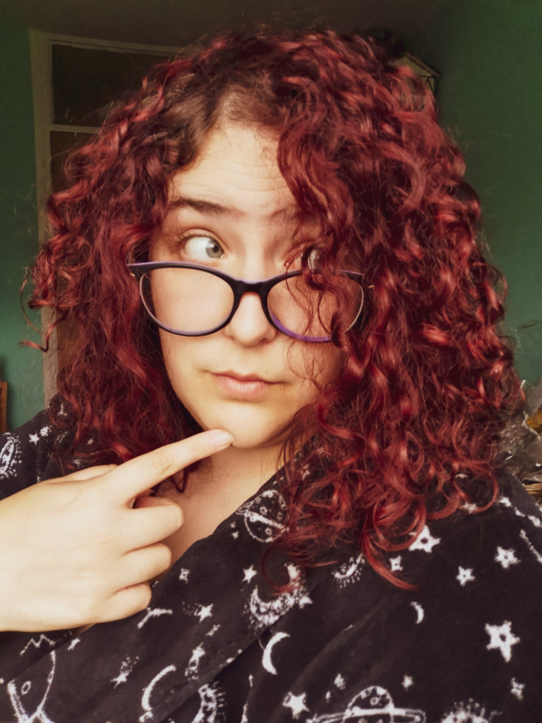 Red hair plus size girl